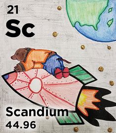Sc - Scandium's density is similar to aluminum's but its melting point is almost double that of Al, so it is used in a lot of alloys Melting Point, Chemistry, Periodic Table, Kids Rugs, Facts, History, Board, Fictional Characters, Periodic Table Chart