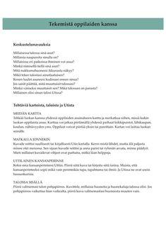 Sanataide- ja kuvataidetehtäviä