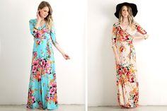 It's Fashion Friday on pickyourplum.com! Add this adorable Layla Floral Wrap Maxi dress to your wardrobe. Available in two different colors for 42% off. Check out all the other great women's fashion finds on pickyourplum.com!