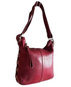 2de3bf4fb341 COACH   9350 Laced slim duffle Genuine buttery Ruby RED pebbled Leather  purse  AuthenticCOACHluxurydesignertotesatchel  ShoulderBag