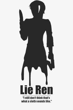 "RWBY: Lie Ren, ""I still don't think that's what a sloth sounds like. Rwby Anime, Rwby Fanart, Rwby Ren, Lie Ren, Otaku, Fairy Tail Quotes, Red Like Roses, Rwby Comic, Achievement Hunter"