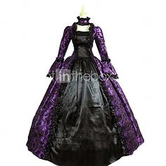 Old Hollywood vintage ball gowns jewelry   ... Dress Purple Vintage Long Length Dress / Necklace For Women 4328360