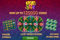 Play the Fruit Spin #slot from NETENT exclusively at Mr Green #Casino for up to 120,000 coins- http://freeslotmoney.com/fruit-spin-online-slot/