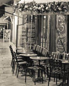 Paris Photography, Christmas in Paris, Fine Art Print, Ile St. Louis, St. Regis Cafe, Home Decor, Wall Art, Winter, Travel
