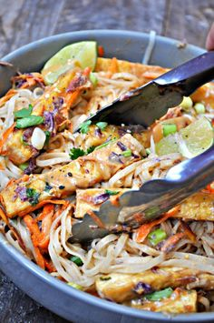 Vegan Orange Peanut Tofu Satay Noodle Salad - Rabbit and Wolves