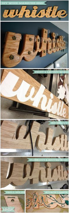 Wouldn't it be Lovely: DIY Wood Marquee Sign