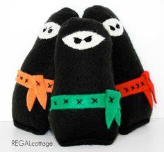 Ninja Baby Rattle Soft Teethers - Set of 3 - Eco Friendly Organic Cotton. $36.00, via Etsy.