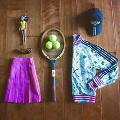 Tennis Outfit | Getting ready for Palm Springs! Follow our journey as we cover the Indian Wells tournament this weekend! #modernbanks ✨☀️