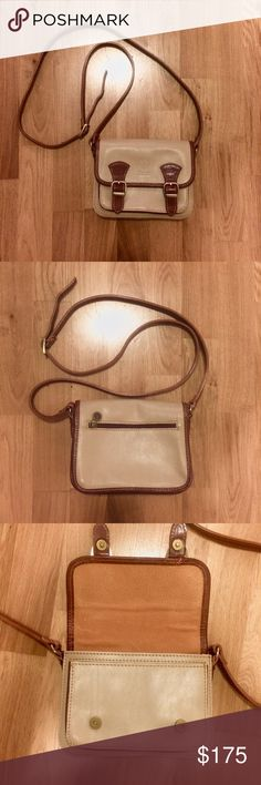 Vera Pelle purse ✌️ Genuine Italian Leather. Brought back from Italy. Never used so in outstanding condition! Adjustable strap for size and in a beautiful two tone brown. Vera Pelle Bags Mini Bags