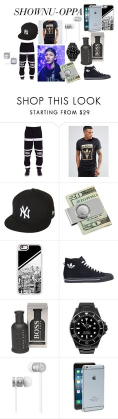 """""""shownu oppa #1"""" by beautydollx on Polyvore featuring Hood by Air, adidas Originals, New Era, American Coin Treasures, Casetify, adidas, HUGO, Rolex, Beats by Dr. Dre and Moshi"""