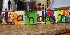 The Very Hungry Caterpillar Themed Custom Name Blocks-Small. $6.00, via Etsy.