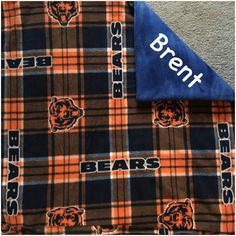 New to Sewdivine77 on Etsy: Chicago Bears double layered blanket/throw (60.00 USD)