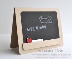 Stampin' Up! SU, Diary of Two Crafty Girls Love how they made it look like a black board!