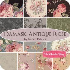 Damask Antique Rose Fat Quarter Bundle Lecien Fabrics