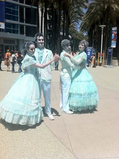 haunted mansion ballroom scene costumes