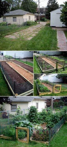 Hottest Pictures Raised Garden Beds along fence Strategies Guaranteed, that's an odd headline. Although certainly, while When i first made our raised garden beds We sole. Small Vegetable Gardens, Vegetable Garden Planning, Vegetable Garden Design, Vegetable Gardening, Veg Garden, Easy Garden, Garden Plants, Backyard Fences, Garden Fencing