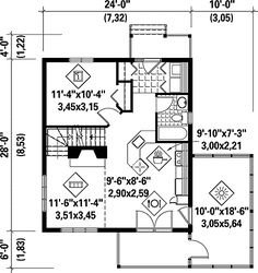 Small house plan to small lot three bedrooms open planning