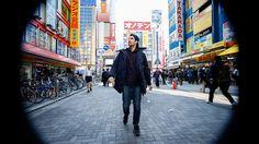 Neat.. video of a man walking backward through Tokyo, played backwards to make it seem like he's going forward.