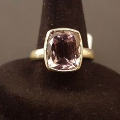Ametrine Solitaire 925 Solid Sterling Silver Ring Size 8 Genuine Stone  #Handmade Silver Ring, Heart Ring, Jewelery, Rings For Men, Sterling Silver, Stone, Handmade, Jewlery, Jewels