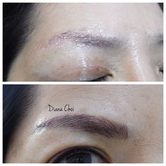 Cover the past eyebrows tattoo. Make it thick and fuller eyebrows. Asian loves this kind of brows in these days.