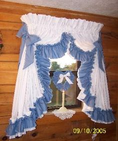 ruffledcurtains Country Style Curtains, Country Decor, Country Valances, Farmhouse Decor, Ruffle Shower Curtains, Drapes Curtains, Room Design Bedroom, Home Room Design, Priscilla Curtains