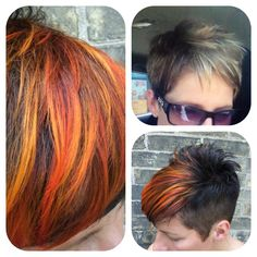 Great before and after color and cut by Melissa!!