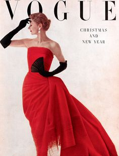 Vintage Vogue Magazine Cover // January 1950