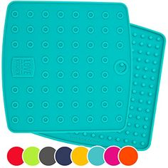 Set of 2 Premium 5 in 1 Multipurpose Silicone Kitchen Tool Trivet Mat Pot Holders Spoon Rest Jar Opener Coaster  Heat Resistant Hot Pads  Thick  Flexible  Great Gifts for Her Teal -- More info could be found at the image url.