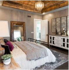 Farmhouse Bedroom Decor Ideas - I make certain you are fueled with suggestions but we never run out checklists to feature for you. So today we have looked at farmhouse bedroom layouts that will certainly influence you. - April 21 2019 at Farmhouse Master Bedroom, Master Bedroom Design, Dream Bedroom, Home Bedroom, Bedroom Furniture, Furniture Ideas, Master Bedrooms, Rustic Furniture, Bedroom Designs