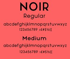 Free Font Of The Day : Noir