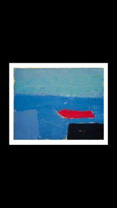 Nicolas De Staël - Bateau, 1952 - Huile sur toile - 33 x 41 cm (..) Modern Art, Contemporary Art, Collages, Home Art, Minimalism, Art Pieces, Abstract Art, Art Gallery, Paintings