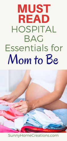 Must read hospital bag essentials for the Mom to Be! Essentials to bring with you when you go into labor. It's so hard packing your hospital bag and knowing what you will need when in labor or during your hospital stay.