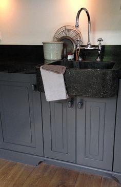 Grey kitchen..