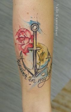 Anchor Watercolor Tattoo