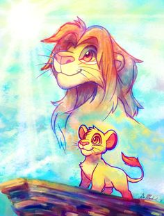 King of Pride Rock by *crayon-chewer -- lion king, simba