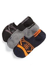 Sperry No-Show Liner Socks (Assorted 3-Pack)