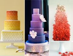 2015 Wedding Trends: Ombre Cakes