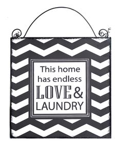 Look at this 'Love & Laundry' Sign on #zulily today!