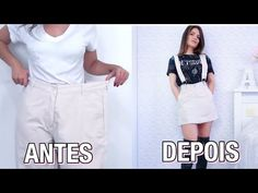 Como transformar roupas de BRECHÓ! - YouTube Thrift Store Outfits, Diy Jeans, Jeans Refashion, Revamp Clothes, Sewing Clothes, Diy Fashion Projects, Fashion Terms, Diy Vetement, Diy Wardrobe