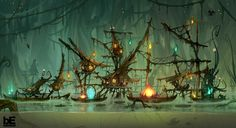 """Monkey Quest"" visual development by Corentin Chevanne"