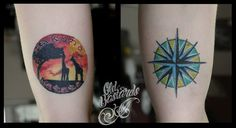 #hakunamatata Hakuna Matata, Compass, Watercolor Tattoo, Maps, Tattoos, Tatuajes, Blue Prints, Tattoo, Map