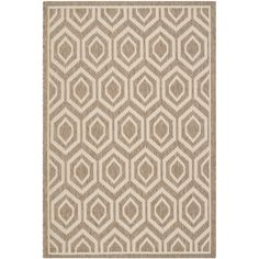 Safavieh Indoor/ Outdoor Courtyard Brown/ Bone Rug (6'7 x 9'6) | Overstock.com Shopping - The Best Deals on 5x8 - 6x9 Rugs