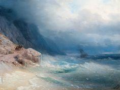 Ivan Aivasovsky - Storm at Sea, 1881, oil on canvas, 41 x 54 cm