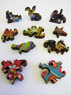 Wooden Puzzles for Adults and Kids,Wooden Jigsaws Puzzles Animal Shaped DIY Puzzle Piece Best Gift For Adults and Children,Family Game Play Collection Decor Toys F01,S