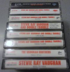 8 STEVIE RaY VAUGHAN cassette tape LoT by VintageTrafficUSA, $33.50