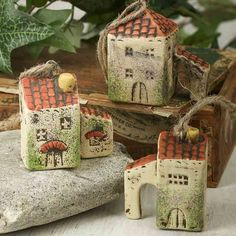 Miniature Ceramic Italian Village Ornament