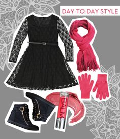 Any 'it' girl knows that the daytime show of the moment is the hidden wedge high top. Dress down a lace skater dress with your sneakers and layer on a bright scarf with matching gloves to keep you warm and comfy all day.
