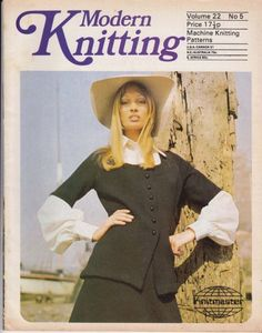 VINTAGE 1970s MODERN KNITTING MACHINE KNITTING PATTERNS MAGAZINE NO 5