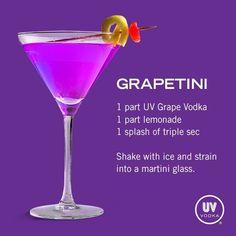 UV Vodka Recipe: Grapetini #vodkadrinks