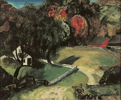 """ George Bellows (Am. 1882-1925), The White Fence, 1920, oil on canvas, 20 x 25 in., Hunter Museum of American Art, Chattanooga """